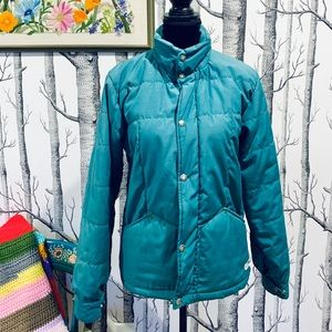 Vintage North Face Green Down Snow Puffer Jacket